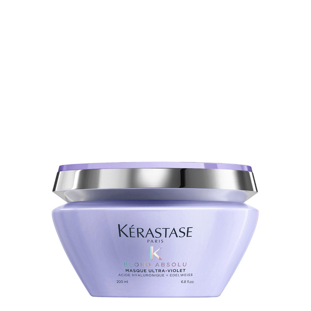 Kerastase Blond Absolu Masque ultra violet 200ml - masque anti jaune pour cheveux blonds ou gris