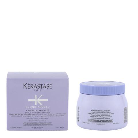 Kerastase Blond Absolu Masque ultra violet 500ml - masque anti jaune pour cheveux blonds ou gris