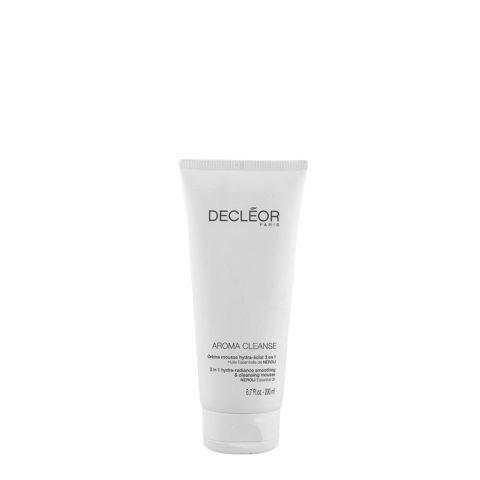 Decléor Aroma Cleanse Creme Mousse Hydra-eclat 3 en 1, 200ml