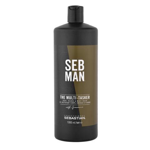 Sebastian Man The Multitasker Hair Beard & Body Wash 1000ml - Shampooing 3 en 1