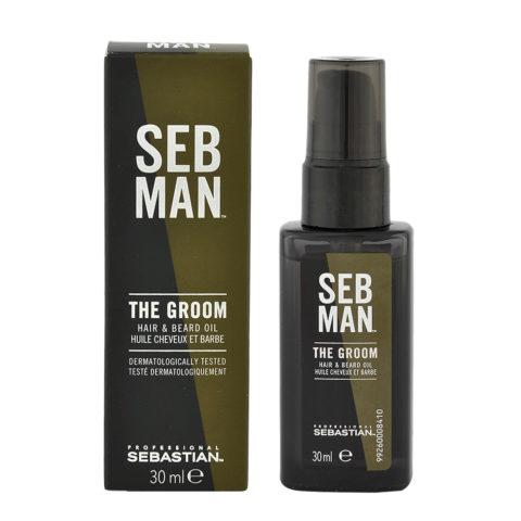 Sebastian Man The Groom Hair & Beard Oil 30ml - Huile pour Cheveux et Barbe