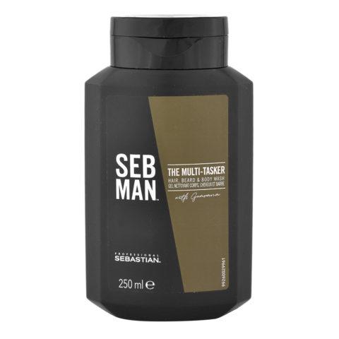 Sebastian Man The Multitasker Hair Beard & Body Wash 250ml - Shampooing 3 en 1