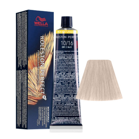10/16 Blond très clair Cendré Violet Wella Koleston perfect Me+ Rich Naturals 60ml