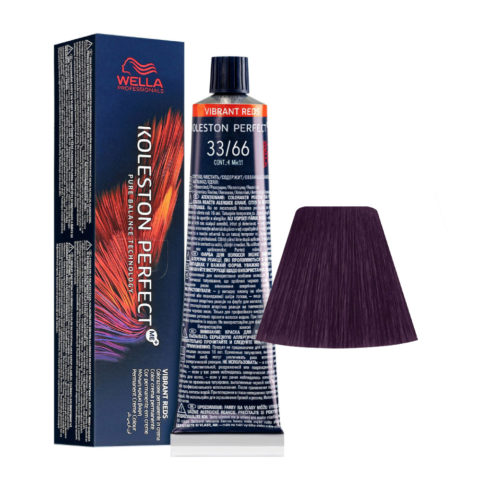 33/66 Châtain foncé Intense Violet Intense Wella Koleston perfect Me+ Vibrant Reds 60ml