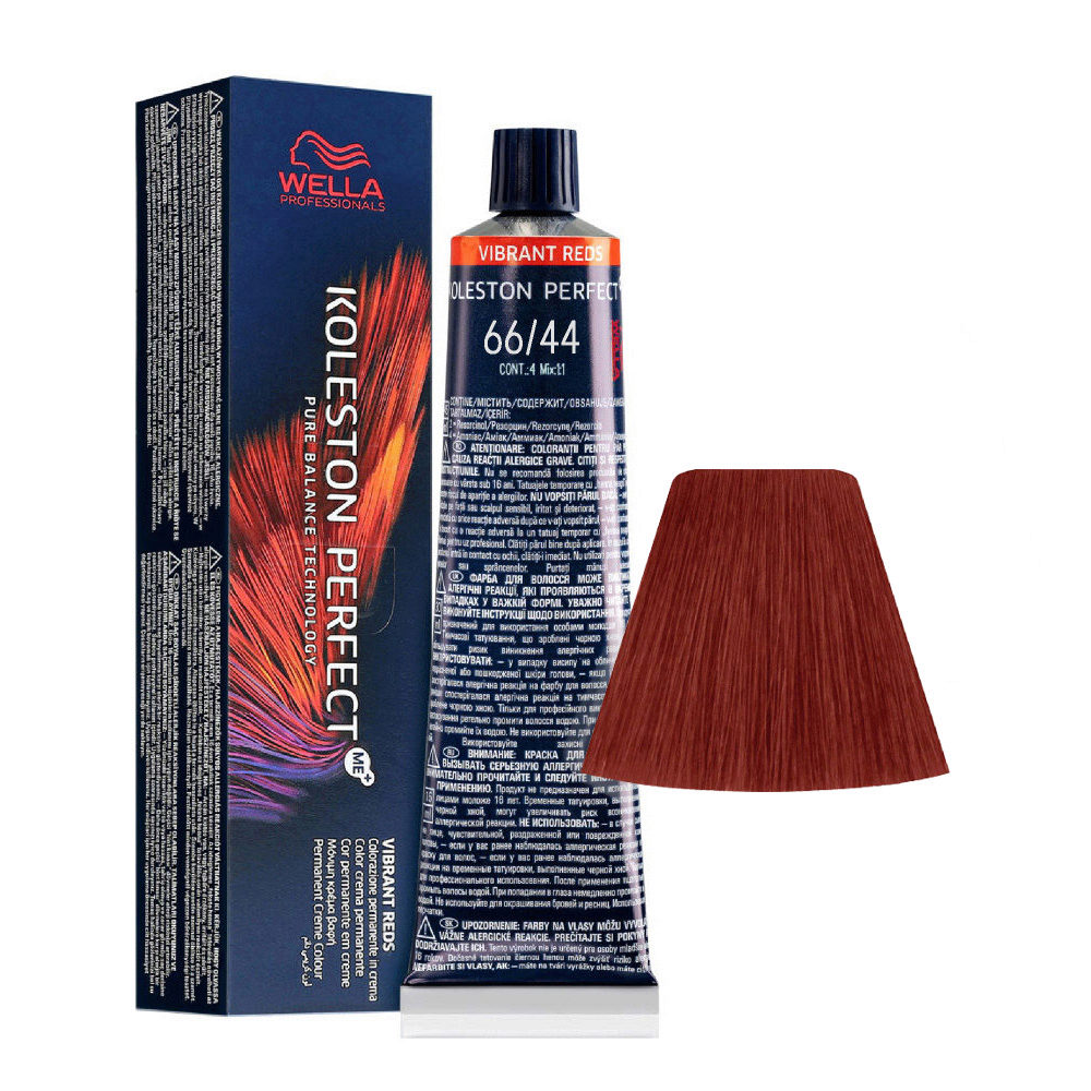 66/44 Blond Foncé Intense cuivre intense Wella Koleston perfect Me+ Vibrant Reds 60ml