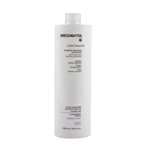 Medavita Scalp Lotion concentree Shampooing coadjuvant prévention chute cheveux pH 5.5  1000ml