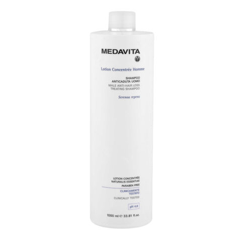 Medavita Scalp Lotion concentree homme Male anti-hair loss treating shampoo pH 4.8  1000ml