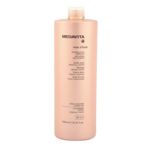 Medavita Lunghezze Huile d'etoile Captivating oils shampooing pH 5.5  1250ml - shampooing d'éclat