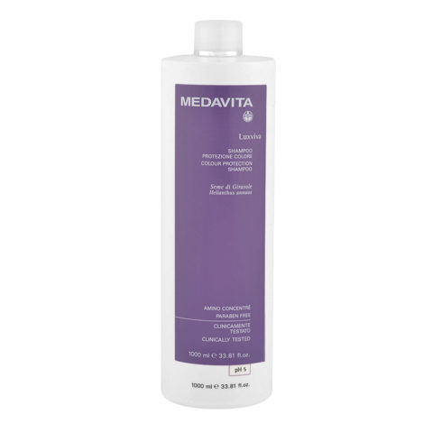 Medavita Lenghts Luxviva Shampooing Protection Couleur pH 5  1000ml