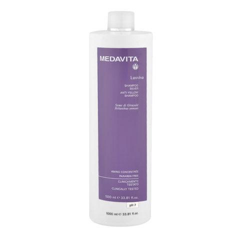 Medavita Lenghts Luxviva Anti-jaune shampooing pH 7,  1000ml