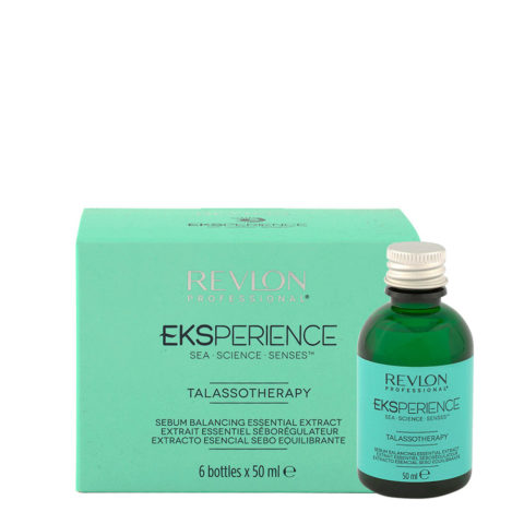 Eksperience Talassotherapy Serum Balancing Essential Extract 6x50ml - Pour Cuir Chevelu Gras