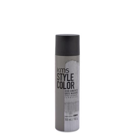 KMS Style Color Iced concrete 150ml - Cheveux Coloration Pulvérisation Marbre Gris
