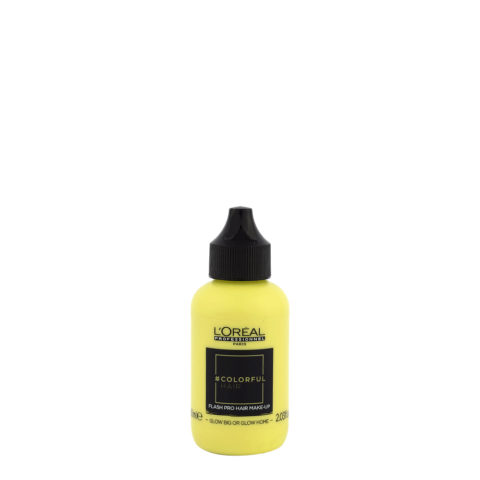 L'oreal Colorful hair Flash Glow Big or Glow Home 60ml - coloration jaune temporaire