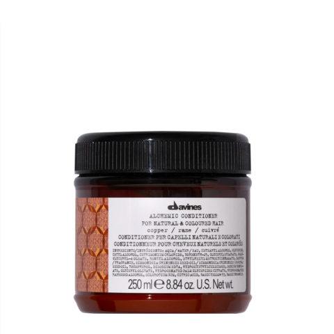 Davines Alchemic Conditioner Copper 250ml - Crème Conditionnante Colorée Pour Cheveux Cuivrés
