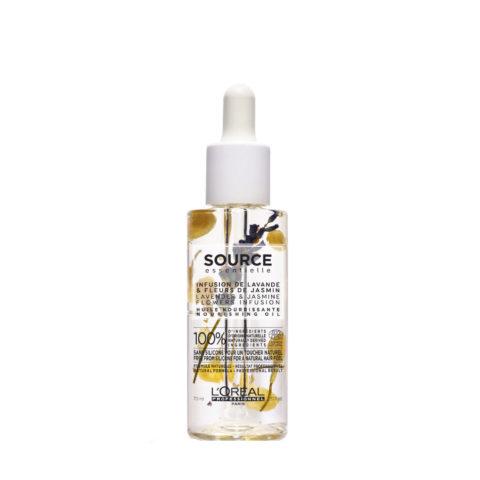 L'Oréal Source Essentielle Infusion de lavande & fleurs de jasmin Huile nourrissante 70ml