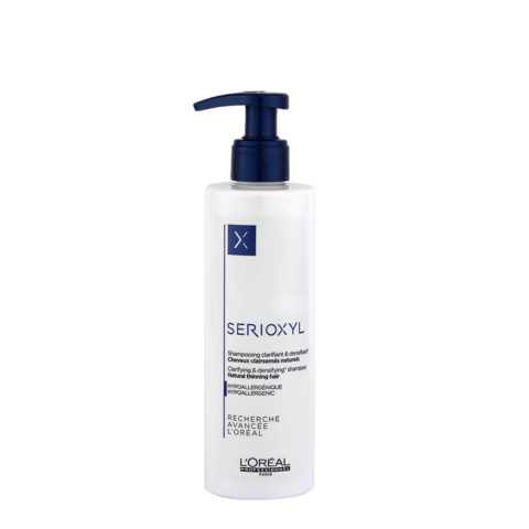 L'Oreal Serioxyl Clarifying densifying Shampoo 250ml - redensifiant pour cheveux naturels