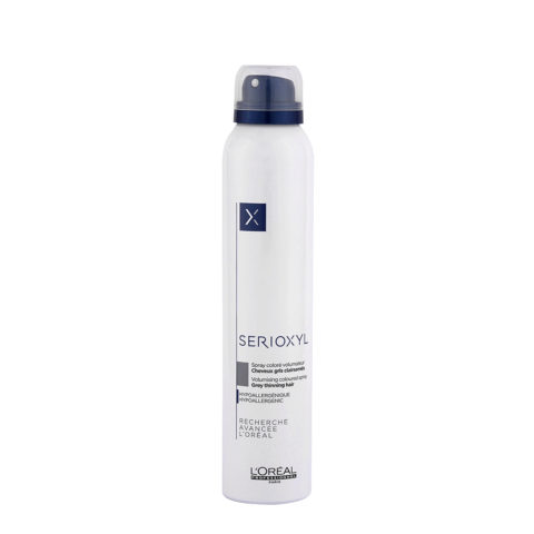 L'Oreal Serioxyl Volumising Coloured Spray Grey 200ml - spray coloré volumateur gris