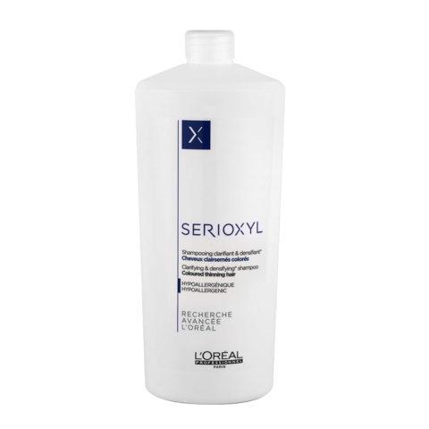 L'Oreal Serioxyl Clarifying densifying Shampoo 1000ml - redensifiant pour les cheveux colorés