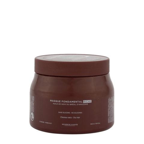 Kerastase Aura botanica Masque fondamental riche 500ml - masque de nutrition pour cheveux sec
