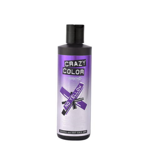 Crazy Color No Yellow Shampoo Ultraviolet 250ml - shampooing anti jaunissement