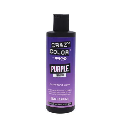 Crazy Color Shampoo Purple 250ml - Shampoo pour cheveux violet