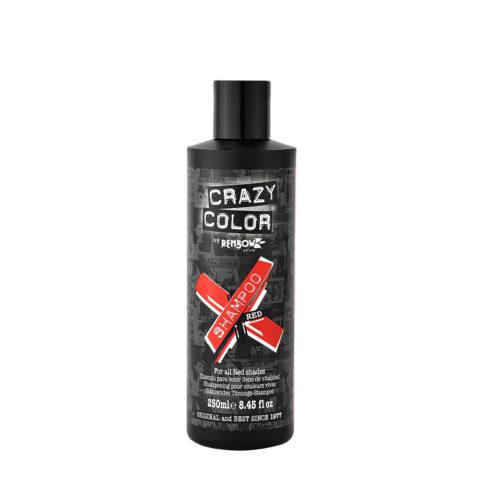Crazy Color Shampoo Red 250ml - Shampooing pour les cheveux rouge