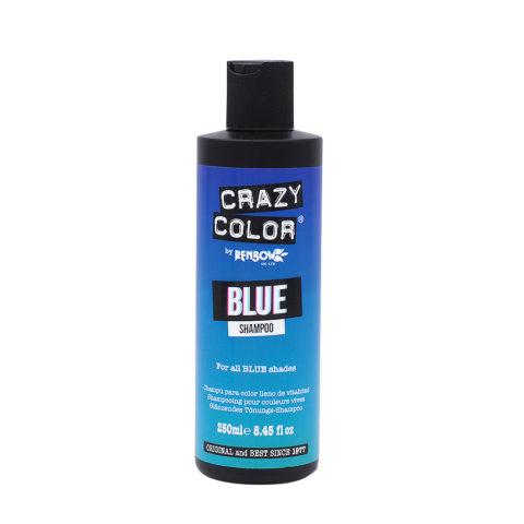 Crazy Color Shampoo Blue 250ml - Shampooing pour cheveux bleu