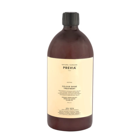 Previa Keeping Organic Green walnut colour shine Treatment 1000ml - masque capillaire coloré