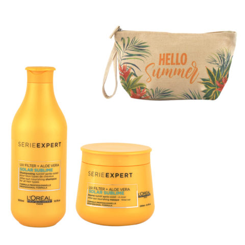 L'Oreal Solar Sublime Kit Shampoo 300ml Masque 250ml - pochette cadeau