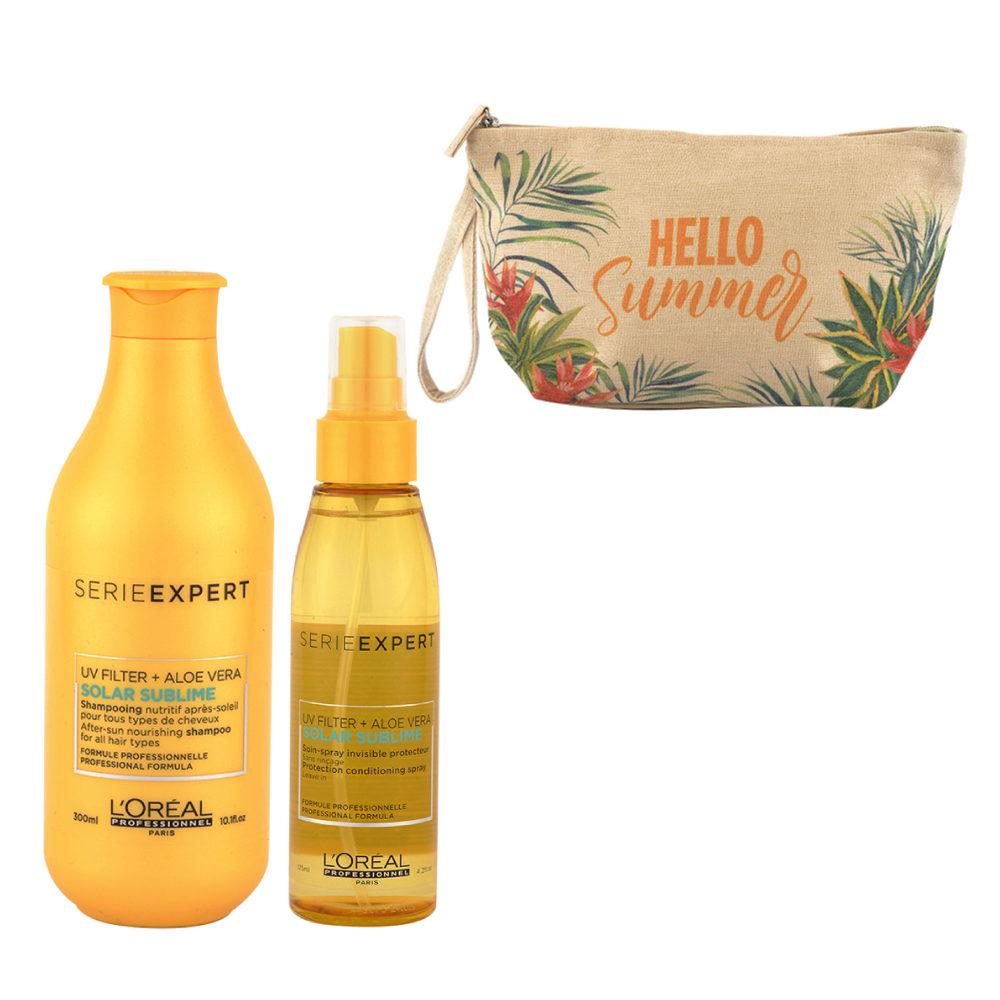 L'Oreal Solar Sublime Kit Shampoo 300ml Spray 125ml - pochette cadeau