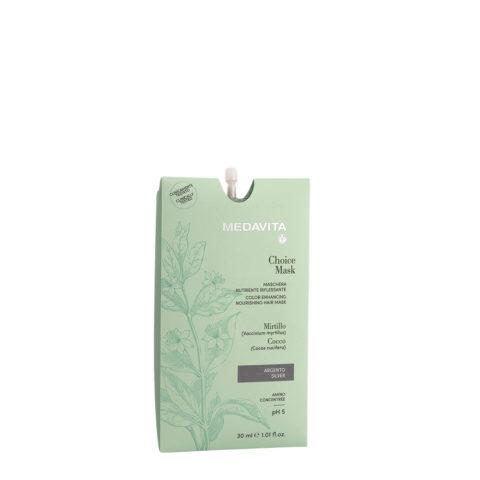 Medavita Lunghezze Choice Mask Silver 30ml - Masque Raviveur De Reflets