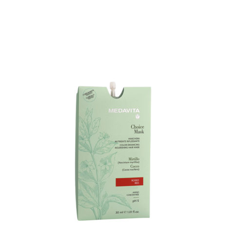 Medavita Lunghezze Choice Mask Rouge 30ml - Masque Raviveur De Reflets