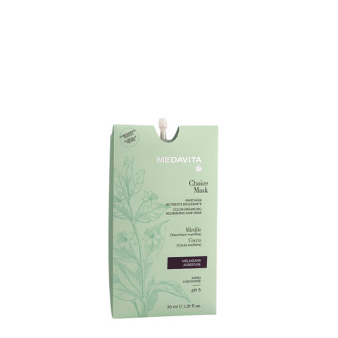 Medavita Lunghezze Choice Mask Aubergine 30ml - Masque Raviveur De Reflets