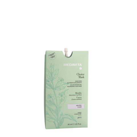 Medavita Lunghezze Choice Mask Clear 30ml - Masque Raviveur De Reflets