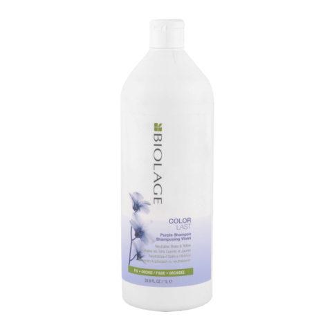 Biolage Colorlast Purple Shampoo 1000ml - Anti Jaune Shampooing