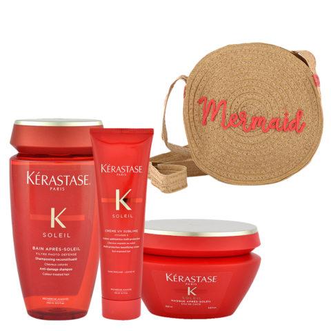 Kerastase Soleil Kit Shampoo 250ml Creme UV Sublime 150ml Masque 200ml - sac en cadeau