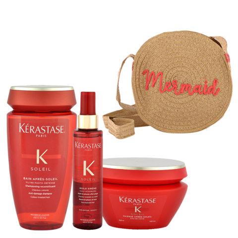 Kerastase Soleil Kit Shampoo 250ml Huile Sirene 150ml Masque 200ml - sac en cadeau