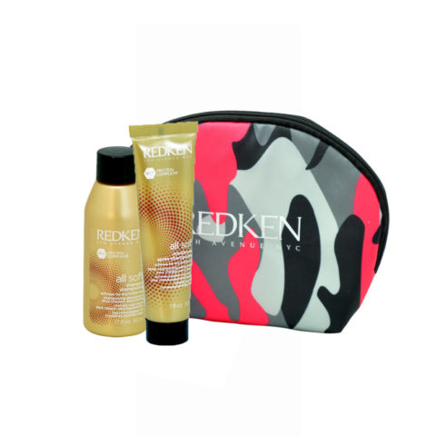 Redken Kit All soft Shampoo 50ml Conditioner 30ml pochette cadeau