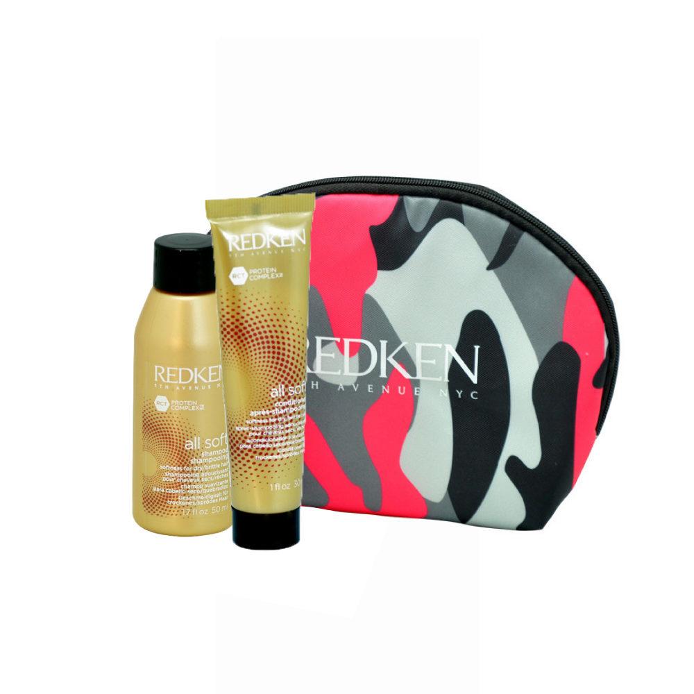 Redken Kit All soft Shampoo 50ml Conditioner 30ml pochette cadeau