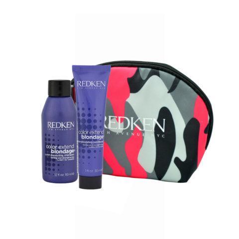 Redken Color extend Blondage Kit Shampoo 50ml Conditioner 30ml pochette cadeau
