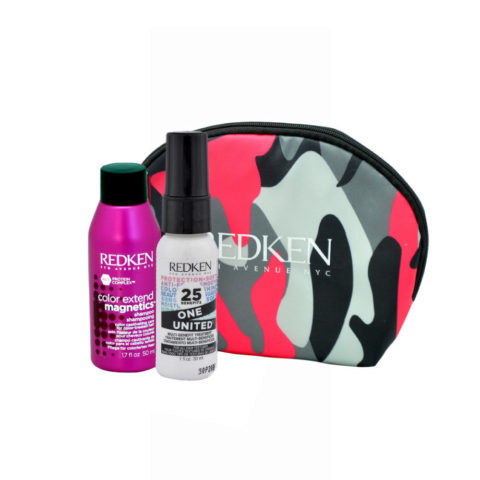 Redken Kit Color extend magnetics Shampoo 50ml  One United All in one spray 30ml pochette cadeau