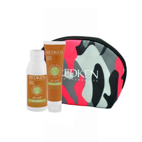 Redken Nature + Science All Soft Softening Shampoo 50ml Conditioner 30ml pochette cadeau