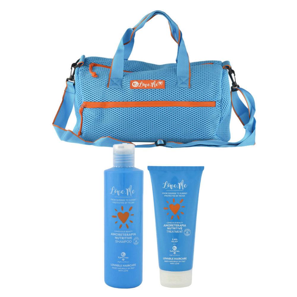 Tecna Sun Amoreterapia Shampoo 250ml Treatment 200ml cadeau sac de plage