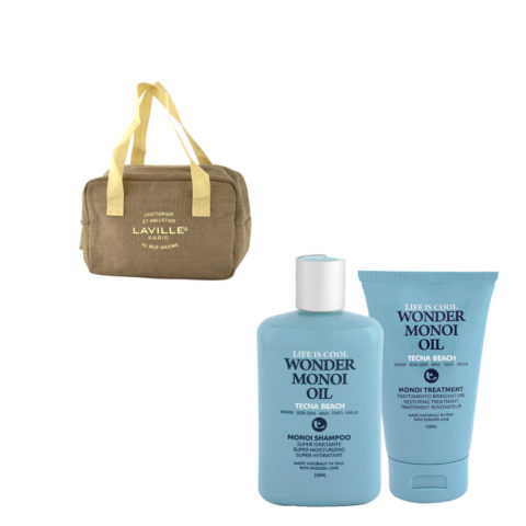 Tecna Beach Wonder Monoi kit Shampoo 250ml Treatment 150ml glacière en cadeau