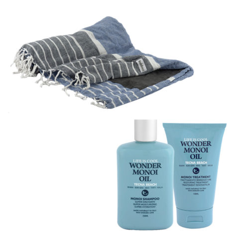 Tecna Beach Wonder Monoi kit Shampoo 250ml Treatment 150ml + serviette de plage gratuite Baldinini