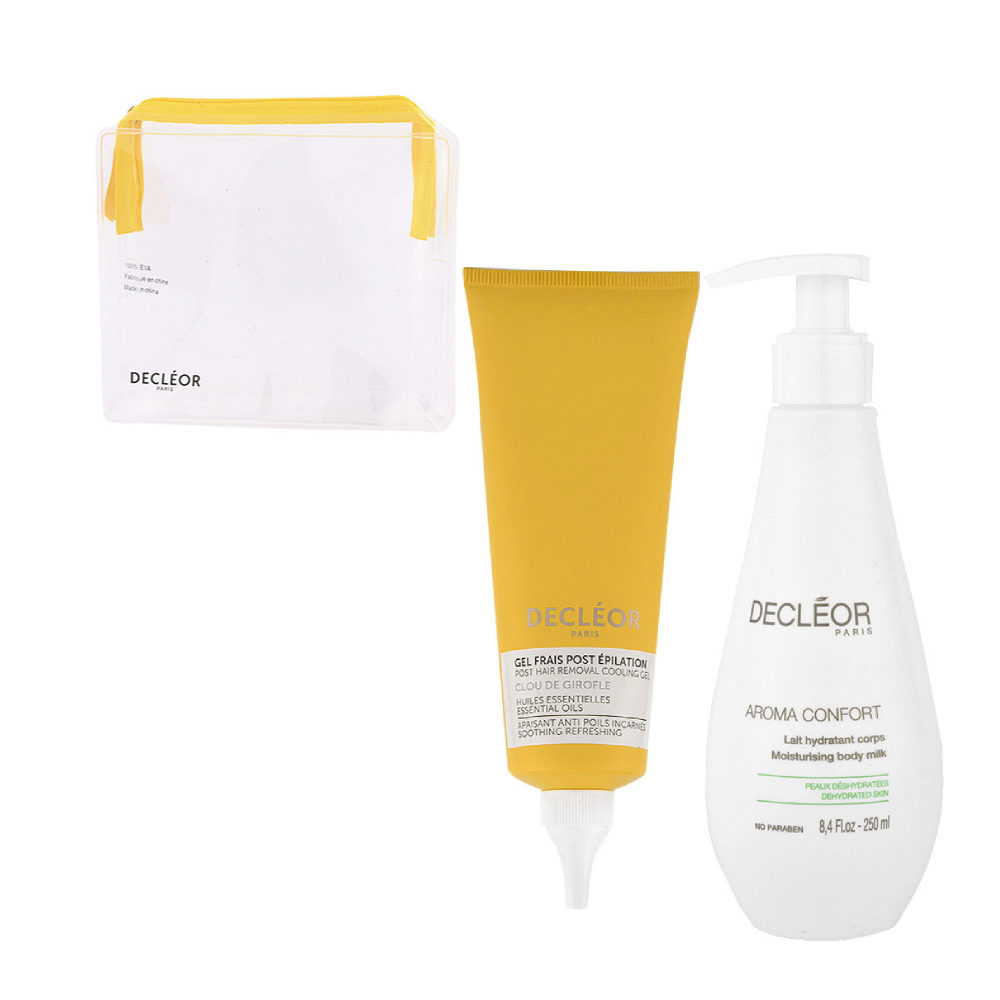 Decléor Bodycare Kit Post Hair Removal Cooling gel Clove 125ml Lait Hydratant 250ml - pochette cadeau