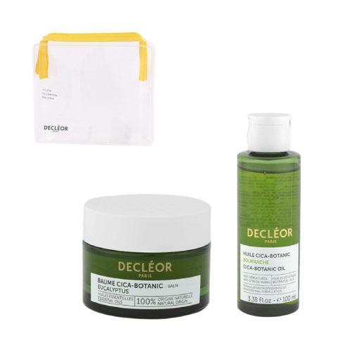 Decléor Body Care Cica-Botanic Kit Baume Eucalyptus 50ml Huile 100ml - pochette cadeau