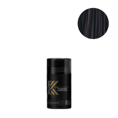 Tricomix Fibre Black 12gr - Fibres De Kératine Avec Effet Volumateur Et Antichute Noir