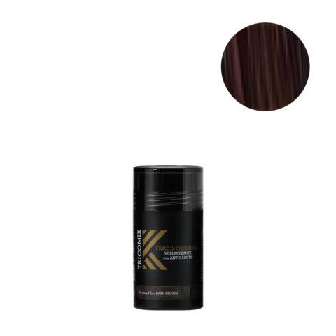 Tricomix Fibre Dark Brown 12gr - Fibres De Kératine Avec Effet Volumateur Et Antichute Châtain Foncé