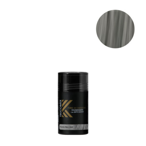 Tricomix Fibre Gray 12gr - Fibres De Kératine Avec Effet Volumateur Et Antichute Gris Moyen